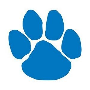 Blue Paw Print Temporary Tattoo