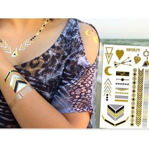 "Custom Metallic Temporary Tattoos 4x6"" Sheet"