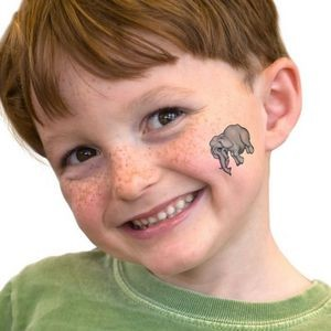 Gray Elephant Temporary Tattoo