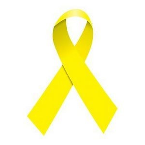 Yellow Awareness Ribbon Temporary Tattoo