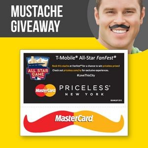 Skin Safe Mustache Stickers with Header Card
